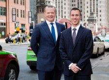 Co-founders of LegalRideshare Matthew Belcher (left) and Bryant Greening (right)