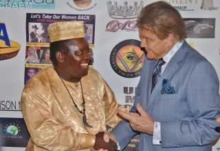 Nollywood Founder King Bassey with Honoree Mel Novak