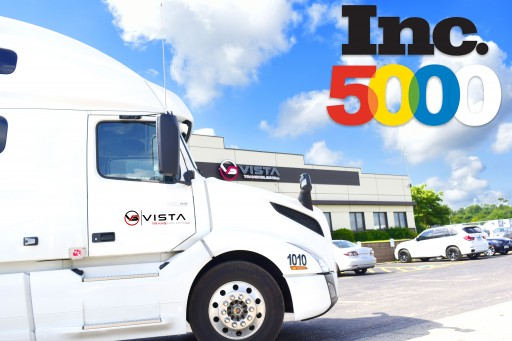 Vista Trans Holding Inc. Has Been Selected for the 2018 Inc. 5000 Top Companies List for the Second Year