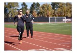 Lacey J. Henderson training with coach