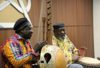 One of the evening's highlights was a concert of African music.