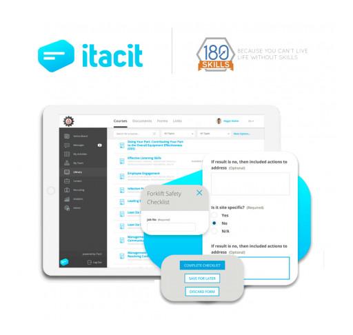 iTacit Adds Leading Manufacturing and Employability Training by 180 Skills to Award-Winning Platform