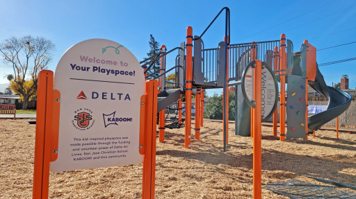 San Jose Christian School, Delta Air Lines and KABOOM! Work to End Playspace Inequity With New Playground in Campbell, CA