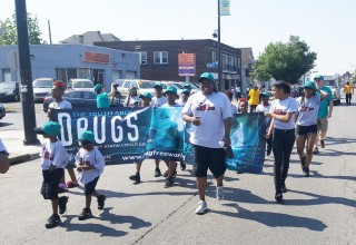 The Foundation for a Drug-Free World and the Lifesavers youth group marched in Buffalo's University District Parade