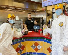 Volunteer Ministers from the Church of Scientology Silicon Valley bring prevention materials to shops and residences to help bring the coronavirus epidemic under control.