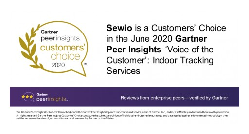 Sewio is Recognized as a 2020 Gartner Peer Insights Customers' Choice for Indoor Location Services