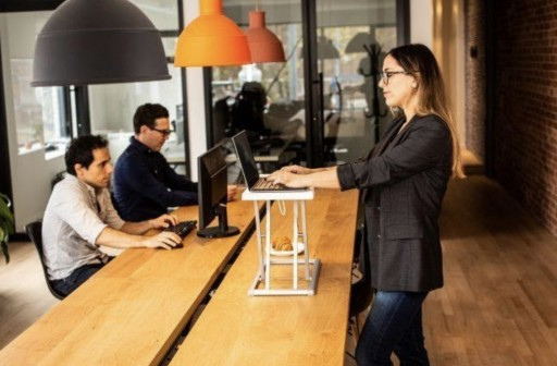 Rocelco Standing Desk Converters Help Ease Back Strain While Working From Home