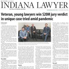 $20.3 Million dollar verdict obtained in Indianapolis, IN