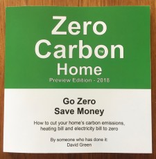 The front cover of the book Zero Carbon Home