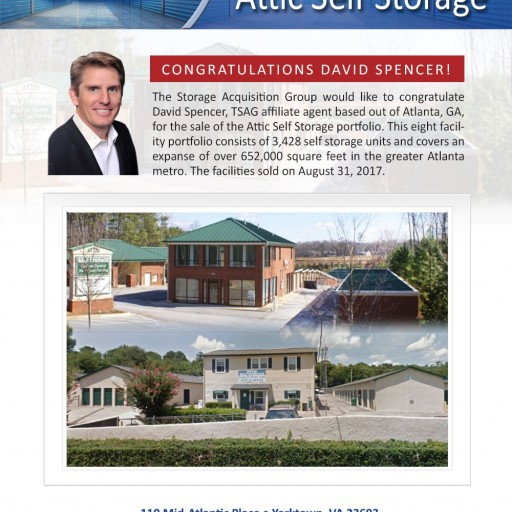 The Storage Acquisition Group Announces the Sale of 8 Facility Attic Self Storage Portfolio