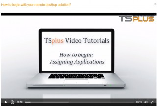 TSplus Video Tutorial 2: How to Assign Applications