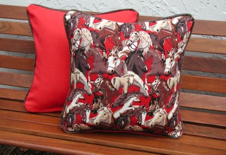 Red Horse Pillows