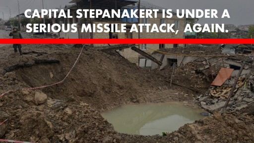 Global Awareness Initiative Says Azerbaijan Continues to Violate Human Rights by Actively Bombing Stepanakert, Nagorno-Karabakh's Capital