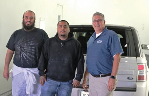 Mike's Auto Body Happily Inherits USI Booth at New Location