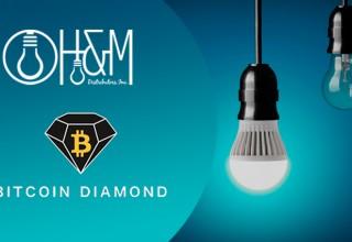 H&M Distributors, Inc. Logo with Bitcoin Diamond