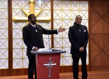 The newly ordained Rev. Philip Hargrow of the Church of Scientology Harlem