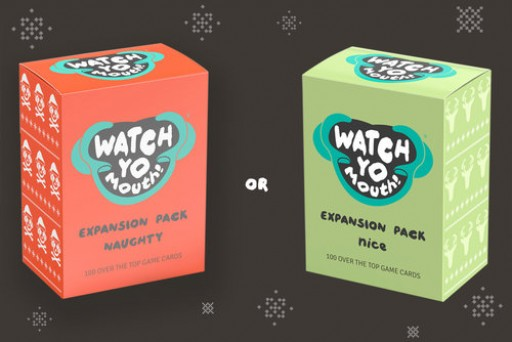 "Hilarious Hit Game of the Season, ""Watch Yo Mouth"" Releases Naughty-Nice Expansion Packs in Time for Holidays"