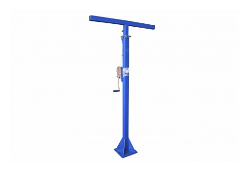 Larson Electronics Releases Telescoping Light Mast, 7' to 12', 12/4 SOOW Cord, Stationary Tower W/ Manual Crank Winch