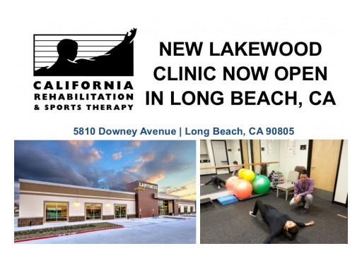 Physical Rehabilitation Network Opens a New Clinic in Long Beach, CA, Under the California Rehabilitation & Sports Therapy Brand