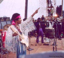Jimi Hendrix, Woodstock 1969, photo by Henry Diltz