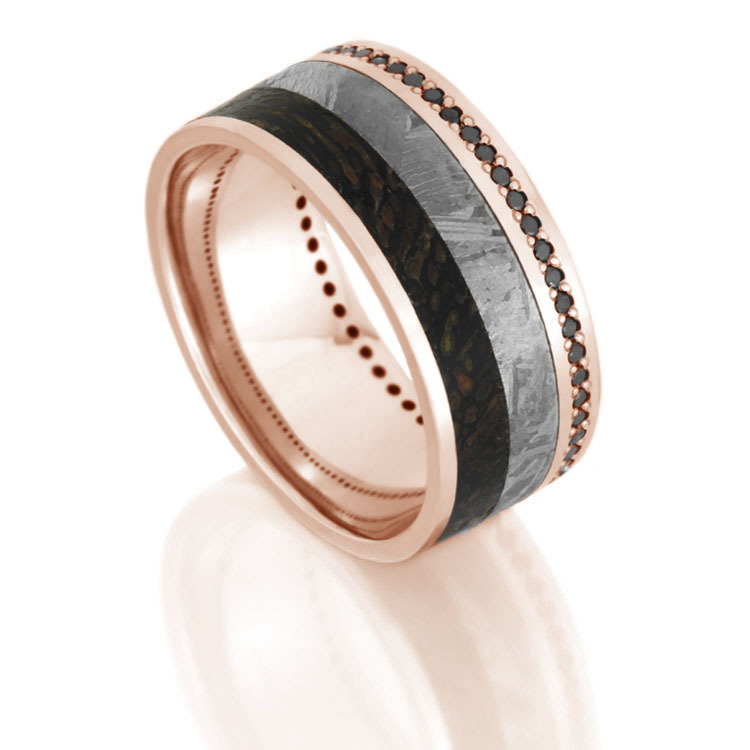 and rust rings ring dinosaur wedding meteorite in collections johan titanium tagged partial gibeon bone wholesale