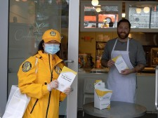 Vancouver Scientology Volunteer Ministers are bringing their Stay Well booklets to businesses throughout their neighborhood to ensure people have access to information on how to stay well
