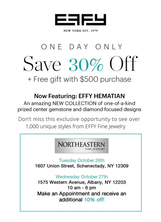Experience Exclusive Savings at the Effy Trunk Show at Northeastern Fine Jewelry