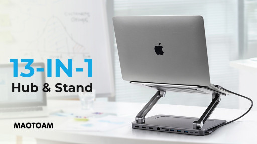Maotoam Announces Launch of World's First 13-in-1 USB-C Hub with Ergonomic Laptop Stand