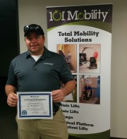 Chris Berry, 101 Mobility of Oakland County, achieves two certifications.