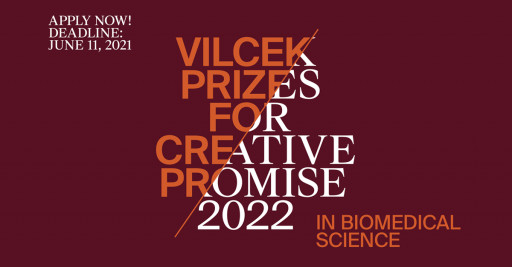 Vilcek Foundation Opens Applications for the 2022 Creative Promise Prizes in Biomedical Science