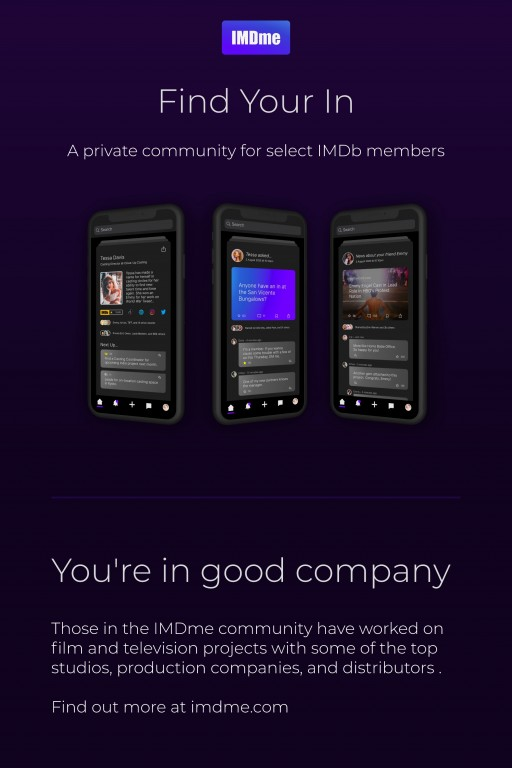 IMDme Announces Private Community for Select IMDb Members, Applications Now Open