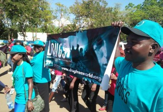 A drug prevention march helps raise awareness of the dangers of drugs