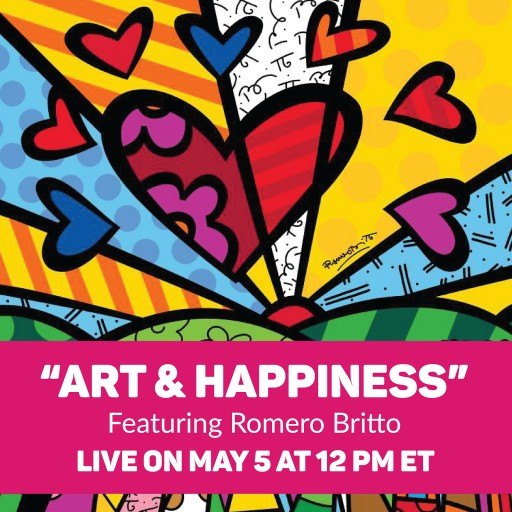 Art & Happiness: Internationally Acclaimed Artist, Romero Britto, Paints Live at His Miami Studio