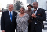 Private Investigator T.J. Ward, Freda Waiters, and Community Activist Marcus Coleman (Front L to R) after meetng with Acting US Attorney John Horn at Atlanta's Richard B. Russell Federal Building.