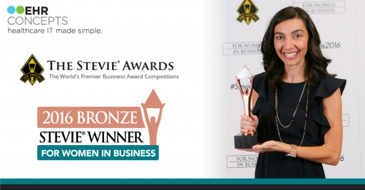EHR Concepts Wins Bronze Stevie® Award in 2016 Stevie Awards for Women in Business