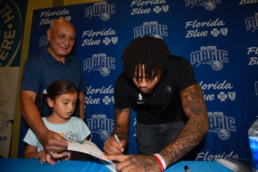 Orlando Magic's Markelle Fultz Shows Love for Fans, Magic and Florida Blue's Baskets for Books Program