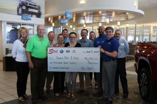 Street Toyota and Employees Raise Funds for Snack Pak 4 Kids Benefiting Student's Food for the Summer Program