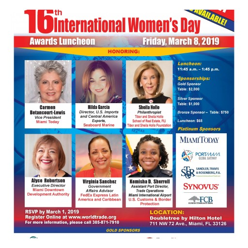 16th International Women's Day Awards Luncheon in Miami, Honors Women Leaders in the International Trade Community