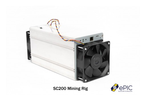 ePIC Blockchain Announces SC200 Mining Rig