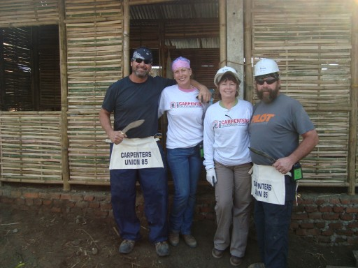Local Union Carpenters Ascend to World's Tallest Mountain Range for Volunteer Effort
