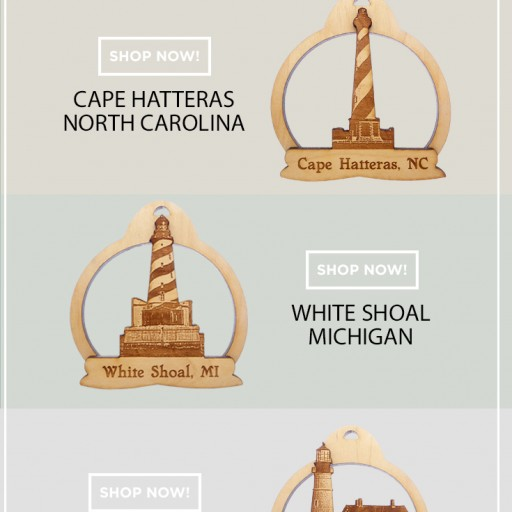 Palmetto Engraving Releases Exclusive Pecan Wood Lighthouse Ornament Laser-Cut Collection