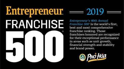 Pho Hoa Ranked on Franchise 500