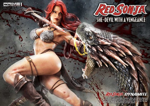 Beautiful Warrior Woman - Red Sonja She-Devil With a Vengeance Statue Available for Pre-Order