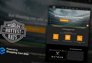 World's Hottest Bats Home Page with Shopping Cart Elite