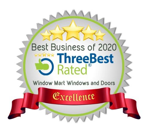 Window Mart Windows and Doors From Edmonton Wins ThreeBestRated® Award 2020 for Best Window Companies