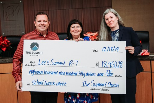 Local Church Pays Nearly $19,000 in Lunch Debt for Lee's Summit School District