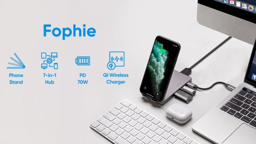 Fophie - A Revolutionary 7-in-1 USB-C Hub & 15W Qi Wireless Charging Phone Stand - Announces Launch