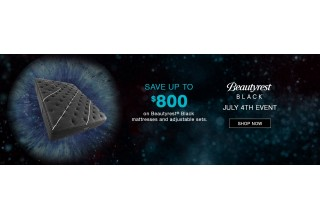 Save up to $800 for Beautyrest Black during the July 4th Sale.