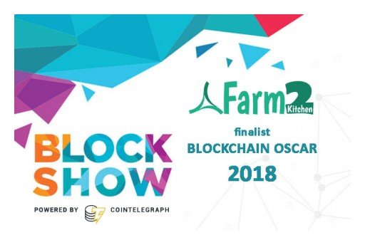 Farm2Kitchen Selected as a Finalist for Blockchain OSCAR Award at BlockShow Americas