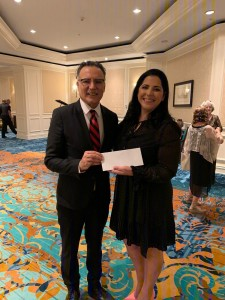 """Dr. Farshchian with LianNavarro, Chairperson of """"Unmask the Masquerade"""" evening Gala"""